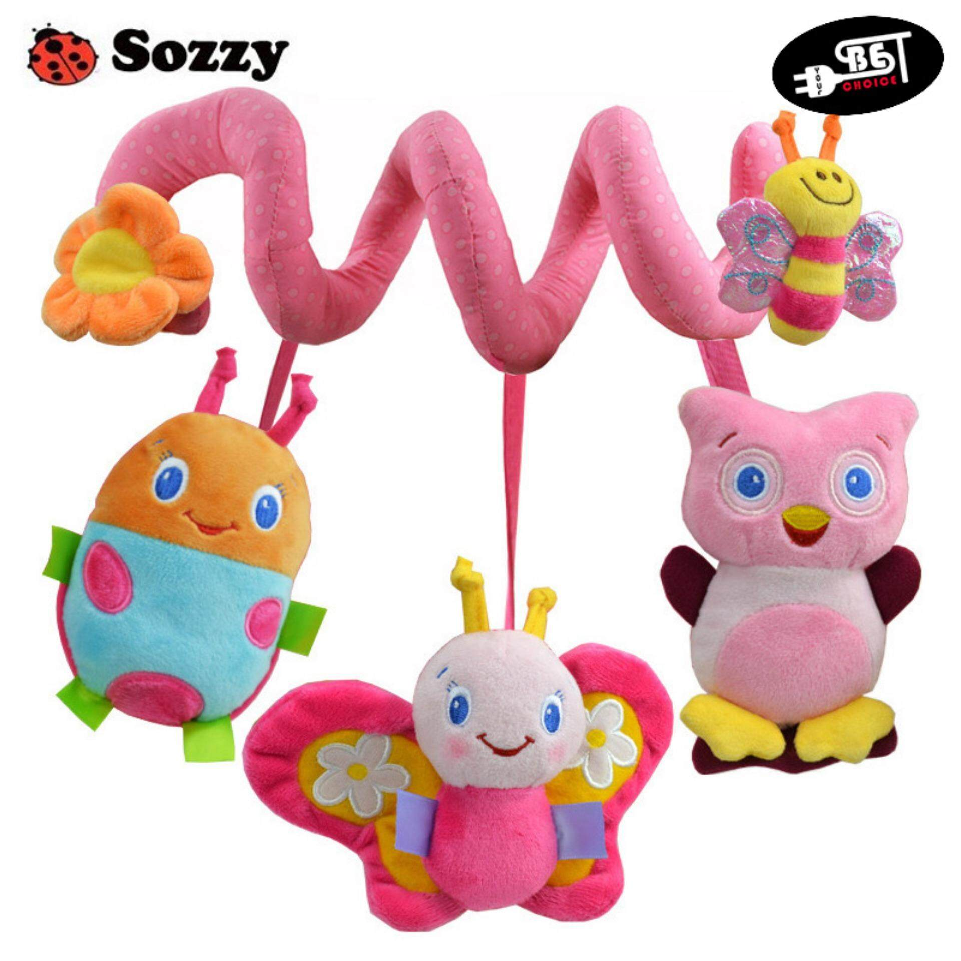 Detail Gambar YBC Infant Toys Baby Crib Revolves Stroller Playing Toy Car Lathe Hanging Baby Rattles Terbaru