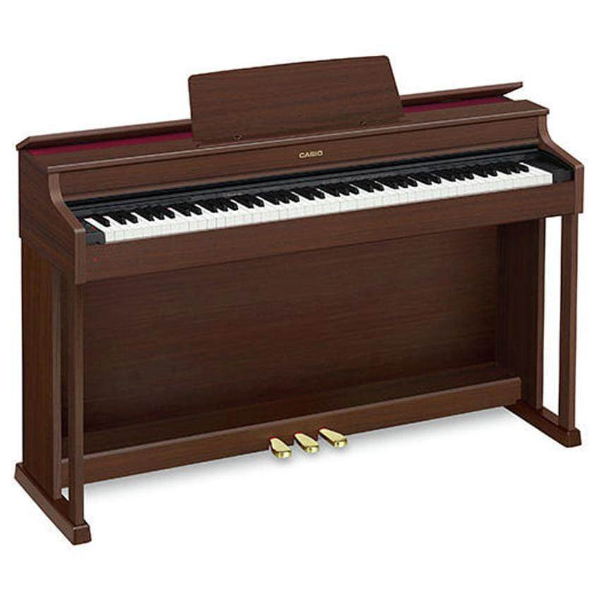 88 Key Casio AP-470 Brown Celviano Piano AP 470 AP470 Bench Weighted Scaled Hammer Action Tri-Sensor Keys Lvory Touch