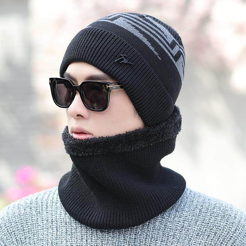 28afb88c5518 Mens Winter Warm Knit Woolen Face Mask Hat Beanie Cap Outdoors Riding Mask  Scarf Hat Dual