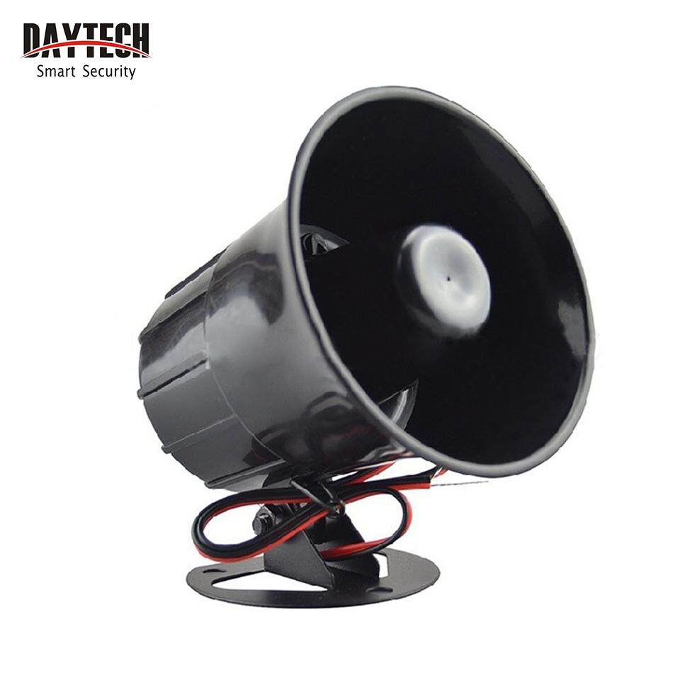DAYTECH Wired Loud Alarm Siren Horn With Bracket For GSM Alarm System Home Security System 112dB DC 12V