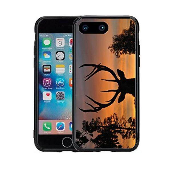 Smartphone Case S Sunset Siluet Rusa untuk iPhone 7 Plus (2016) & iPhone 8 Plus (2017) (5.5) Case Cover Atom Pasar-Intl