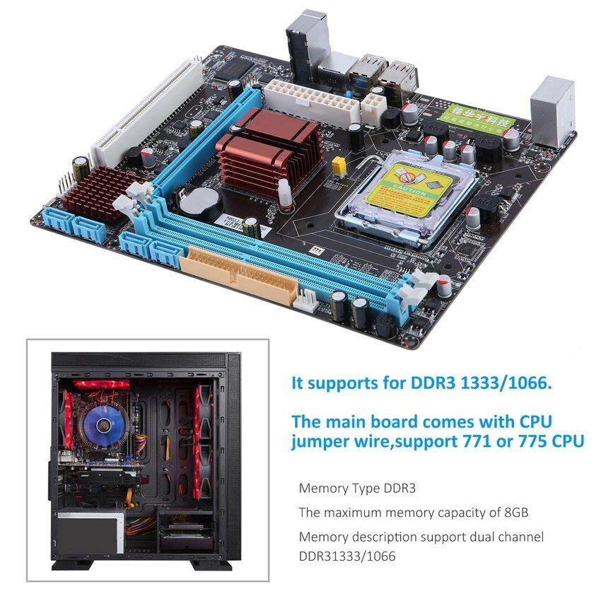 P45 Computer Mainboard Motherboard 771/775 Dual Board DDR3 Support L5420 - intl
