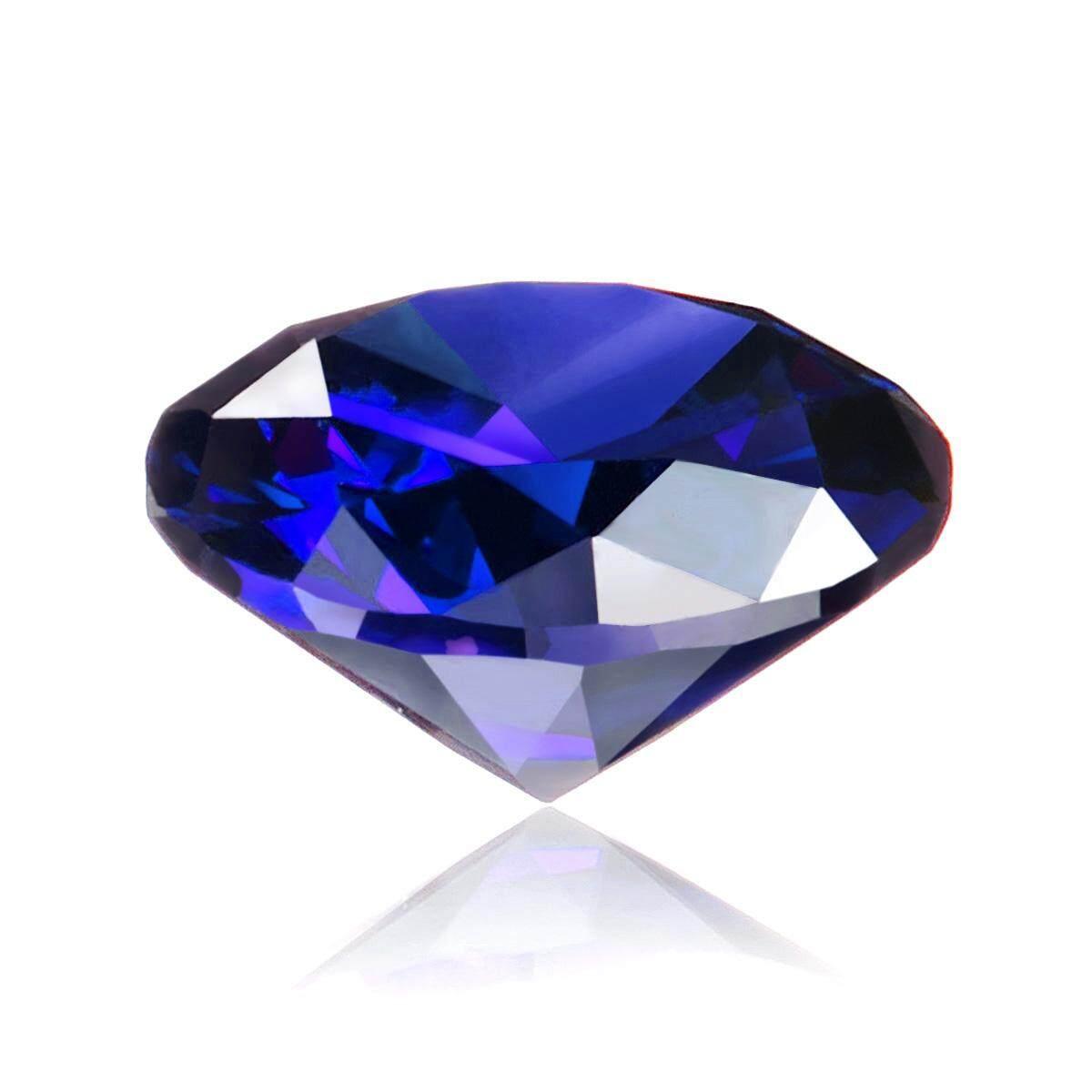 Oval Blue Cut Pemanas Safir Batu Permata Longgar Cincin Zirkon Dekorasi Hadiah 12 Mm By Audew.