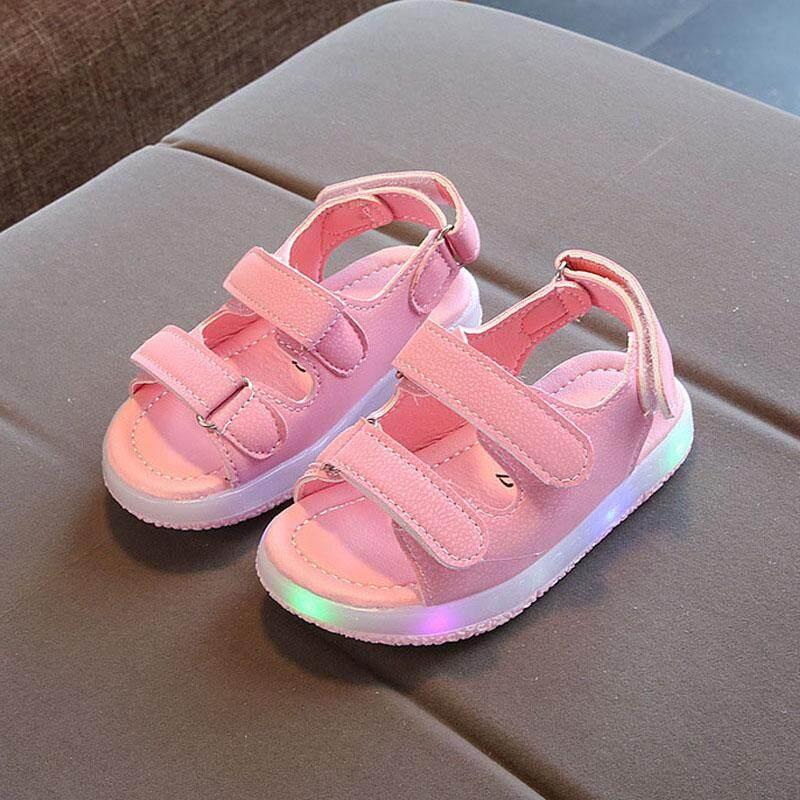 1 Pair Musim Panas Kids LED Sandal Strappy Light-Up Anak-anak Anak Laki 4298f1087d
