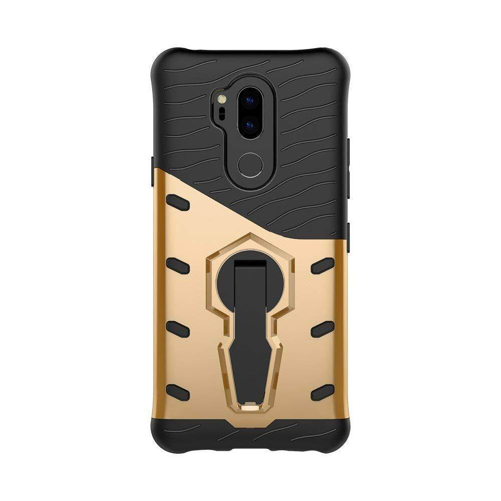 Swivel Kickstand Casing for LG G7 Dual Layer Armor Combo with Heavy Duty Shockproof Defender Cover