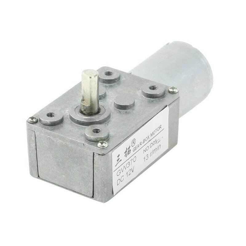 Dc Geared Motor 6 Mm Shaft 2 Electric Terminal 12 V 13 U / Minute Gray By Werinc