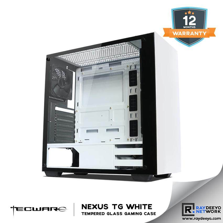 Tecware NEXUS TG (WHITE) Tempered Glass ATX Gaming Case [ATX, Matx, Mini-ITX] Malaysia