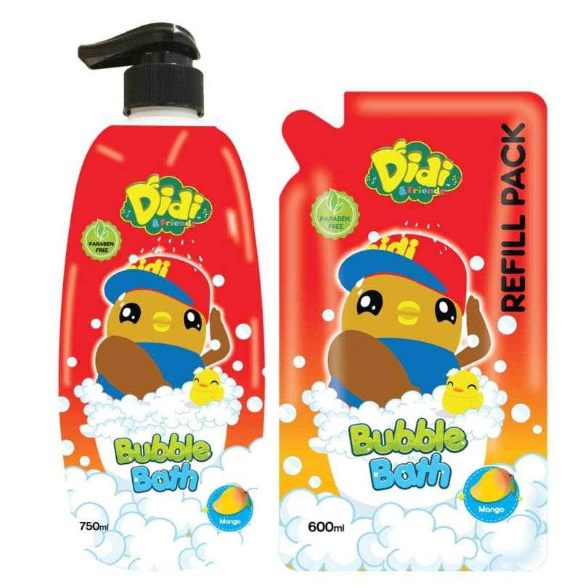Didi & Friends Head To Toe Wash 750ML With Refill Pack 600ML Set - Mango Flavour