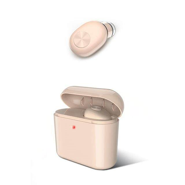 Binho BL1 Mini Bluetooth Headphone Bluetooth 4.2 Nirkabel Penyumbat Telinga Olahraga dengan Pengisian Kotak Earphone Mikrofon