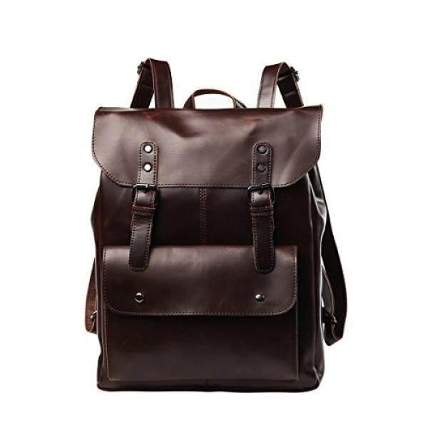 Crazy Horse PU Leather Backpack School Bag Laptop Bags Satchel Bookbag Large Capacity Hiking Travel Rucksack