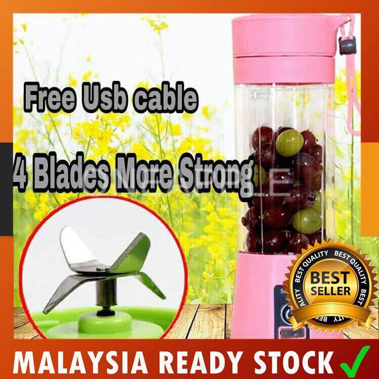 4 Blades  USB Rechargeable Juice Blender Juice Maker shake n take