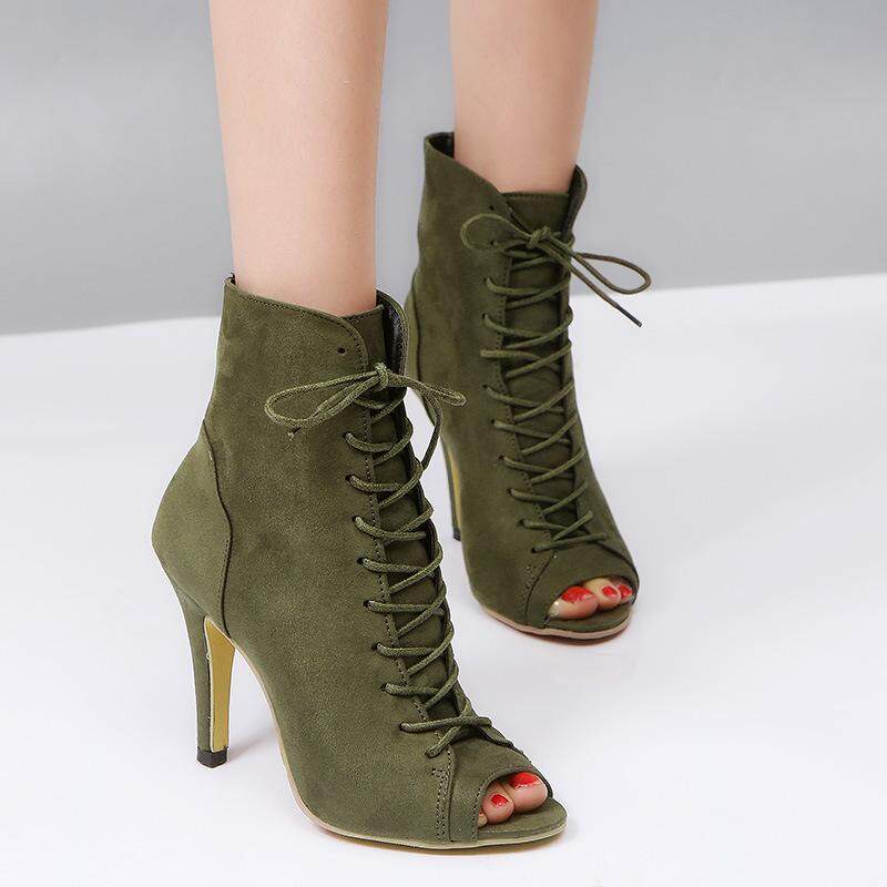 64cc521db Female Roman Lace-up Sandal Stiletto Mouth Super High Heel Large Size  Foreign Trade Summer