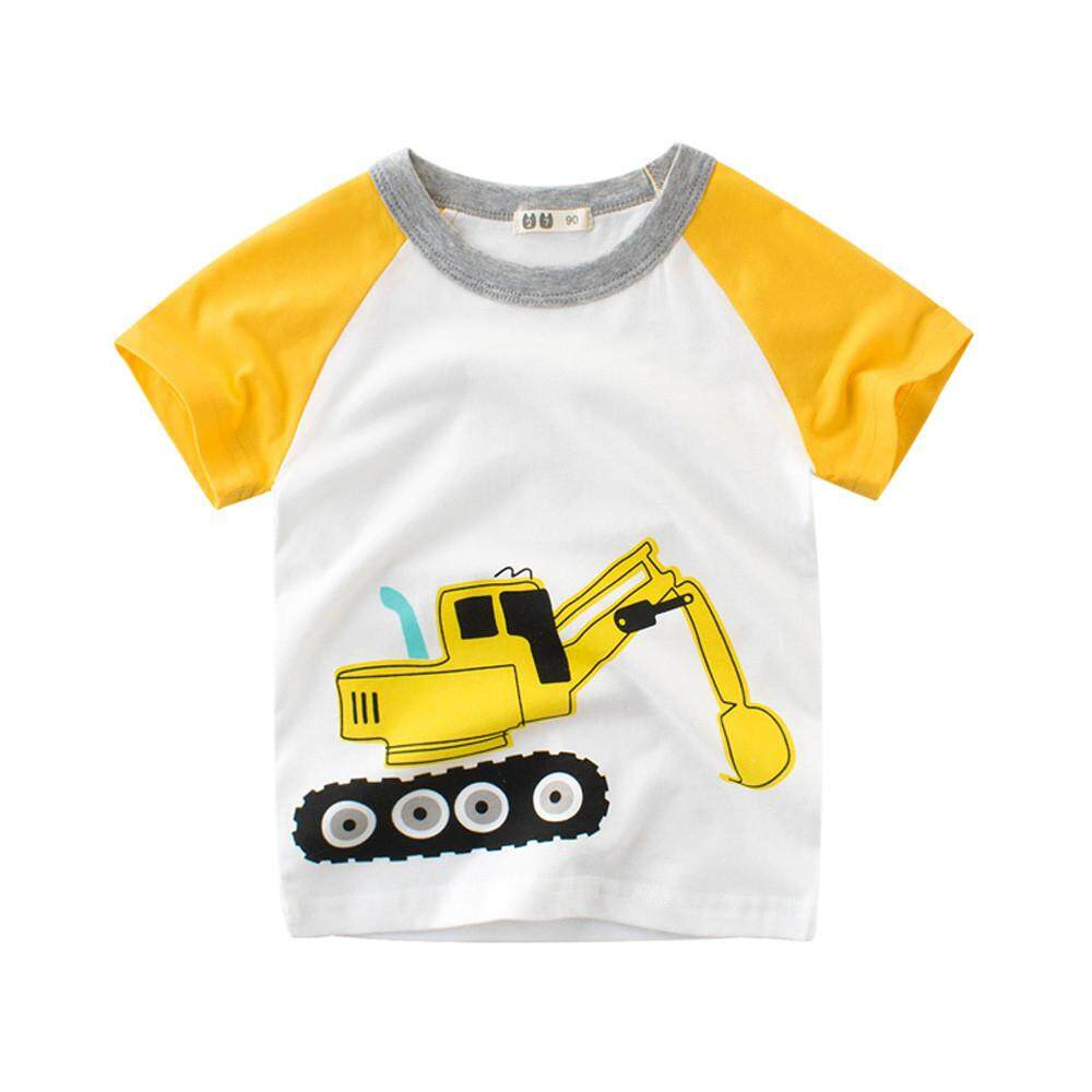bfcc3683 Tideshop Summer Infant Baby Kids Boys Girls T Shirts Cartoon Print Tops Outfits  Clothes