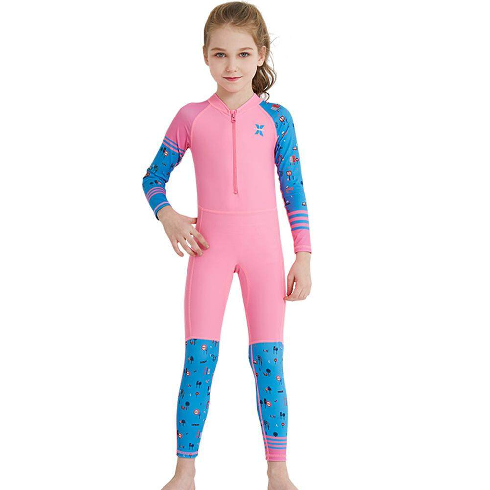 Lq Children Unisex Colorful Jumpsuit Swimsuit Conjoint Quick Dry Suit Set By Lyq Trade.