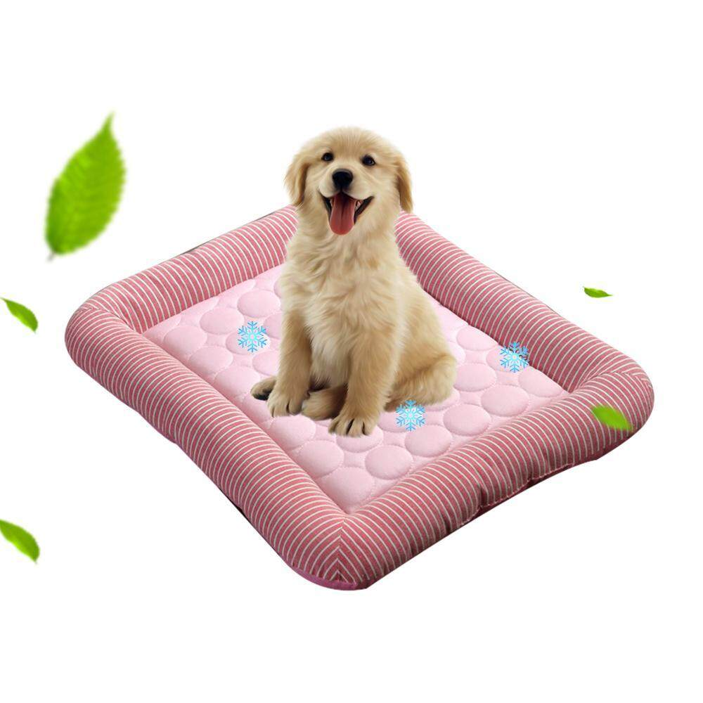 Orzbuy Dog Cooling Bed, Dog Cooling Pad Summer Sleeping Cool Dog Bed, Non-Toxic Breathable Washable Pet Cooling Mat For Small/ Medium Dog, Cat - Intl By Orzbuy.