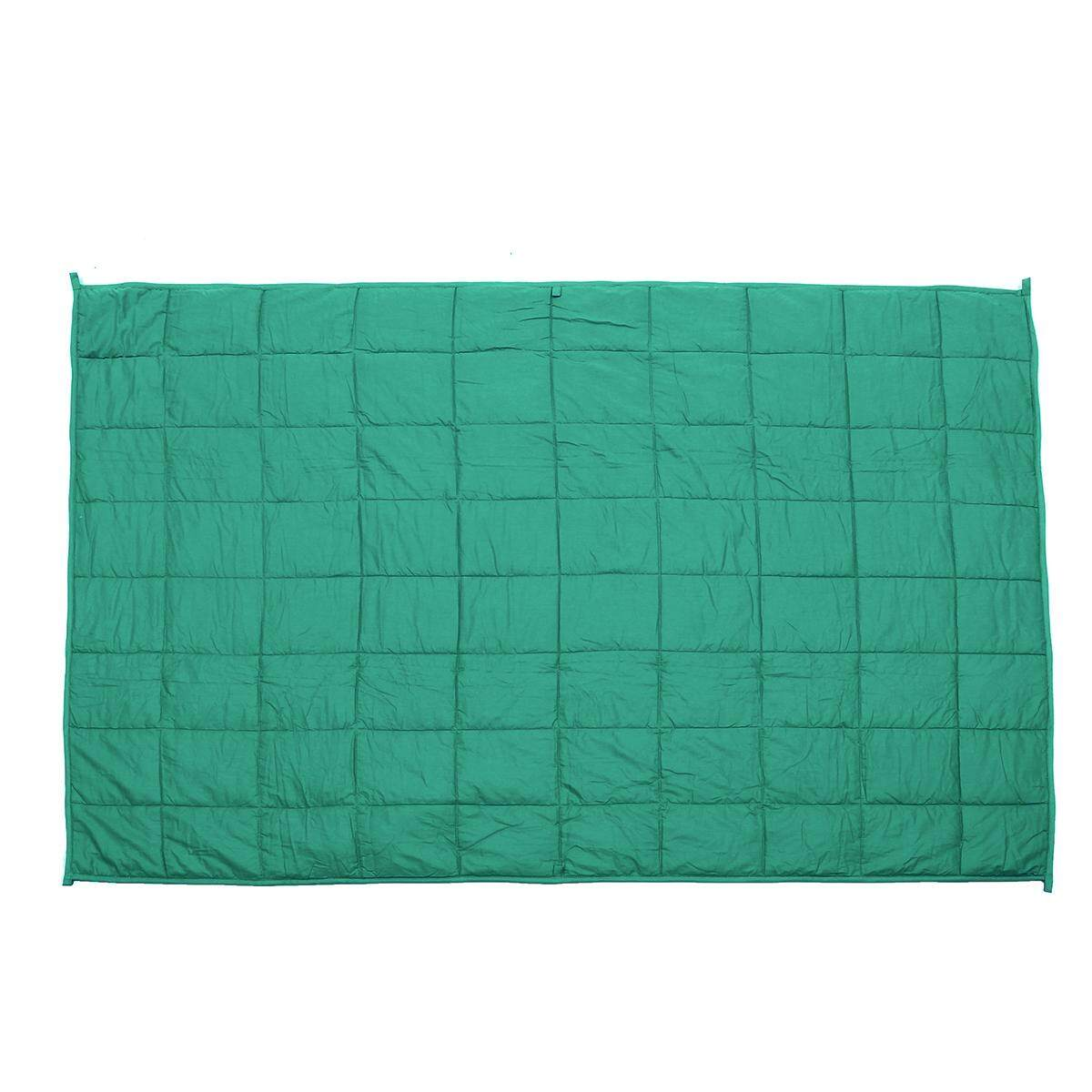 11.5kg Green Weighted Blanket Bedding Cotton Heavy Sensory Relax 120x180cm - Intl By Audew.