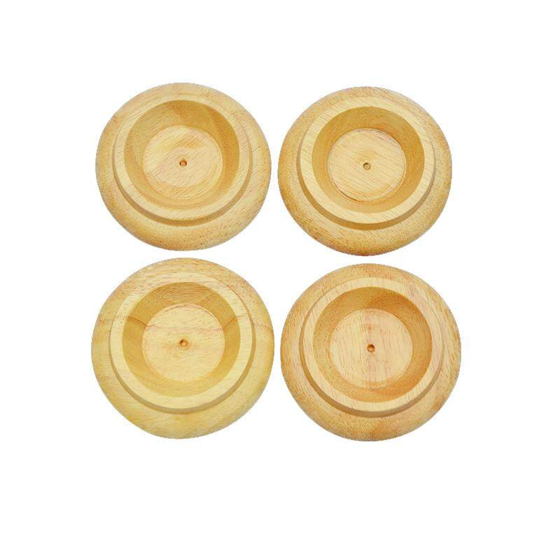 Detail Gambar Wente Piano Caster Cups Wood Foot Pads for Upright Piano Parts Black solid wood