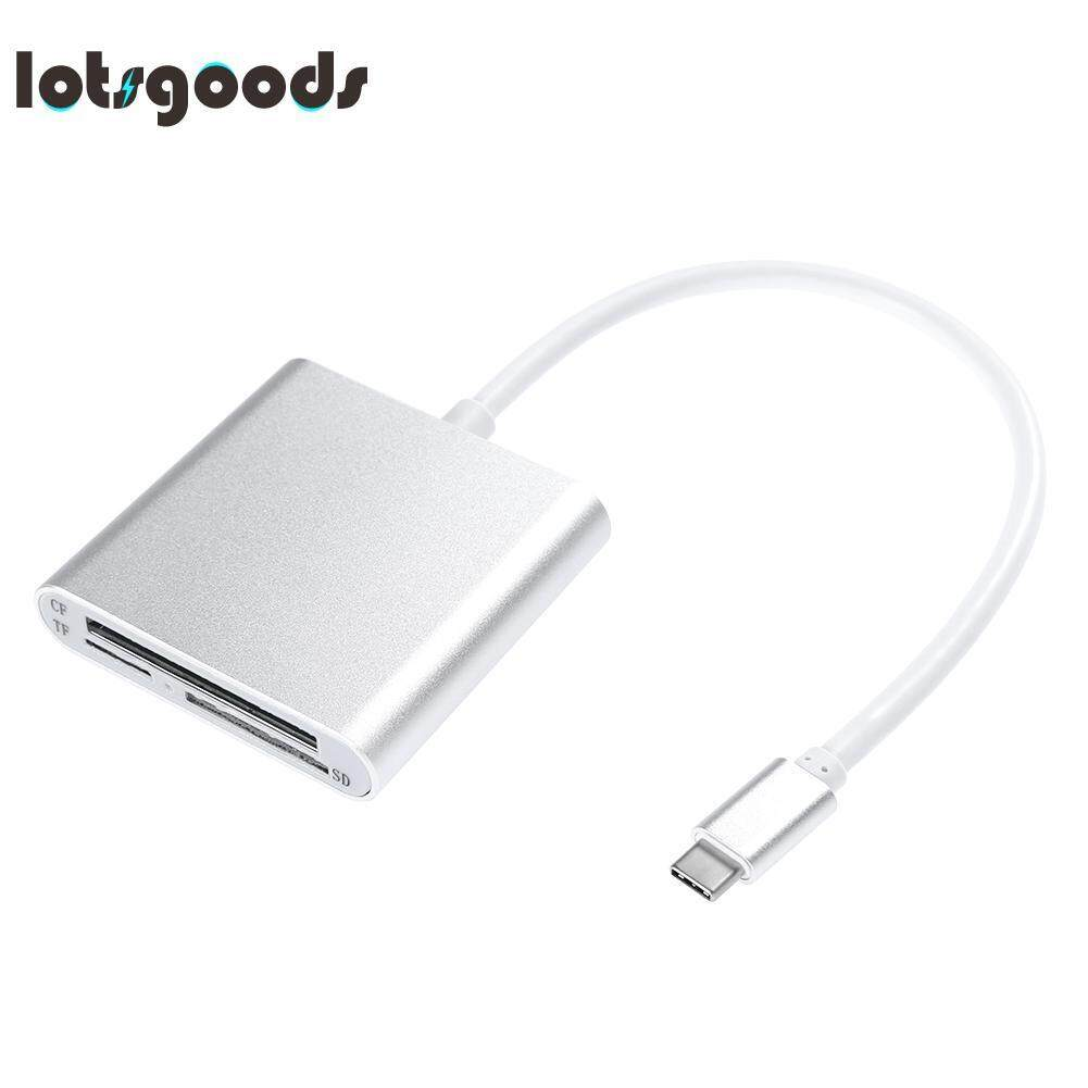 Sale Usb3 1 Type C Port 3 In 1 Sd For Micro Sd Cf Card Reader For Pc Smart Phone Silver China