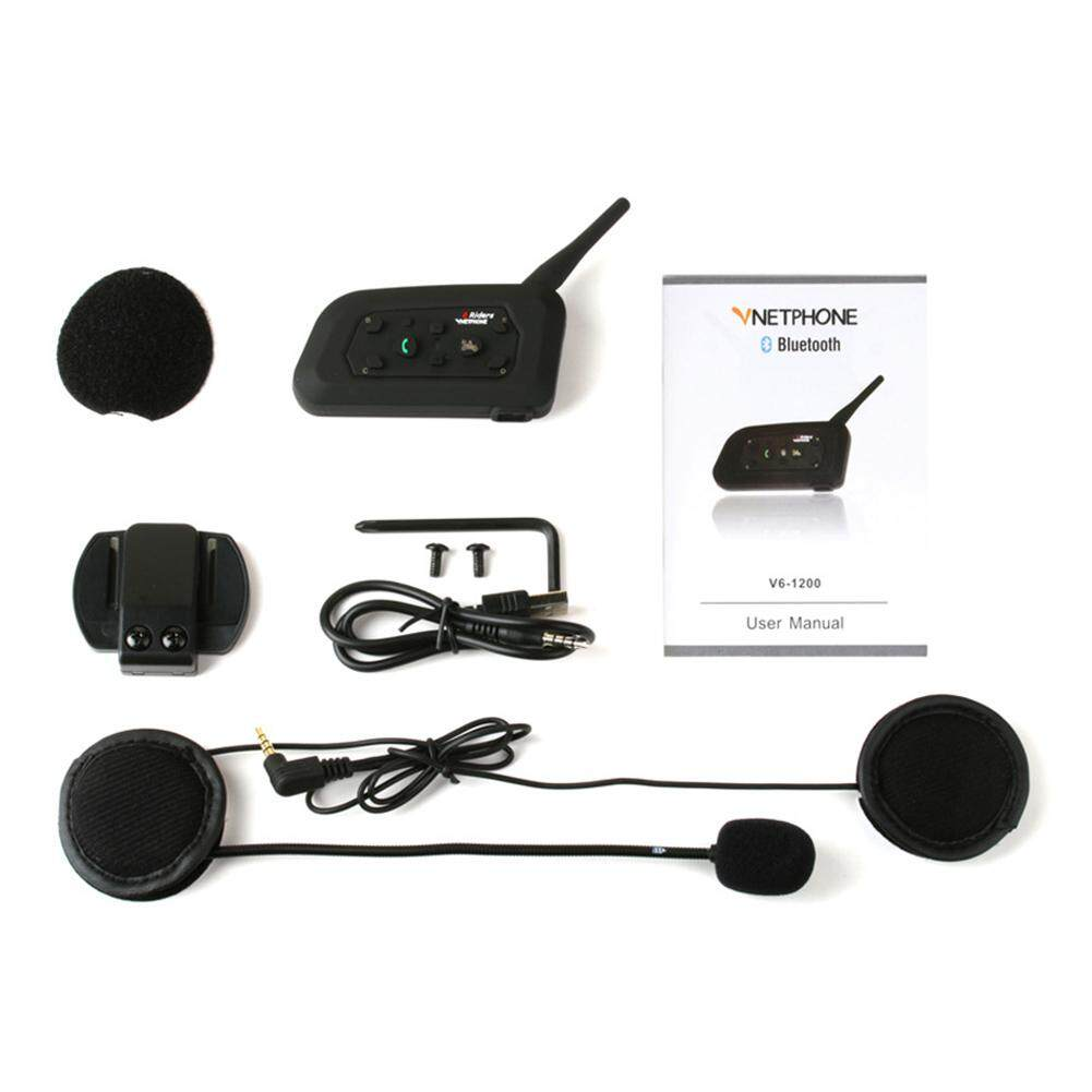 Headset Motorcycle Helmet Intercom Interphone Bluetooth Portable Waterproof