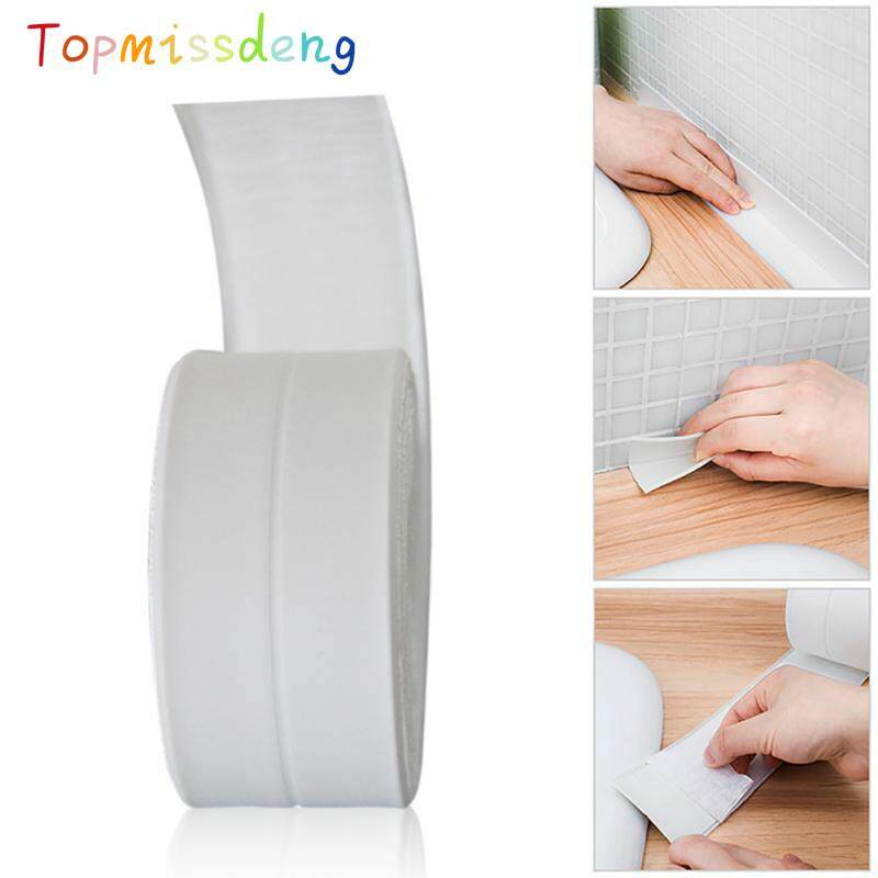 Topmissdeng 38mm*3.35m 1 Roll White self-adhesive Wall Sealing Tape Kitchen Bathroom Wall Sealing Tape Waterproof Mold Proof Tape Philippines