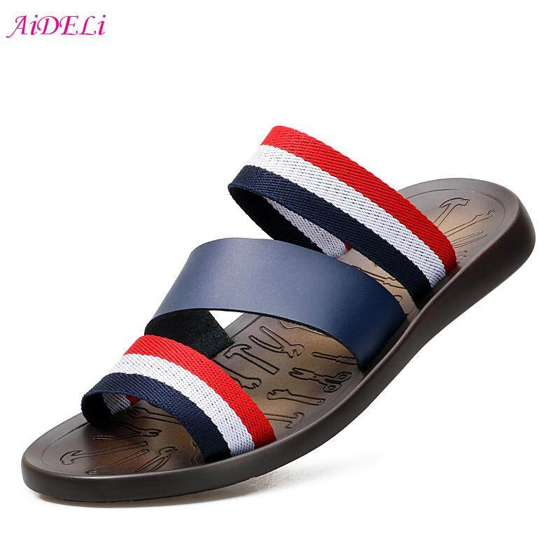 Review Aideli Retro Men S Casual Slippers Simple Comfort Outdoor Beach Shoes Wild Student Shoes Intl China