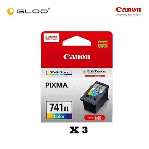[Set of 3] Canon Fine 11 CL-741XL TriColor Ink Cartridge