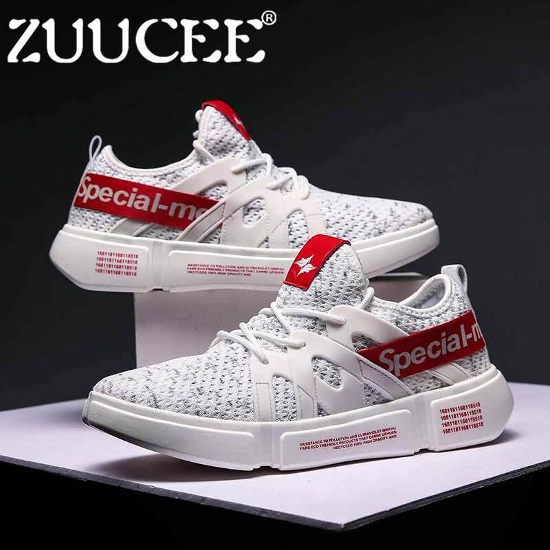 Zuucee Pria Sepatu Olahraga Luar Ruangan Sepatu Sol Datar Sepatu Lari  Kasual untuk Men free 8271b8c742
