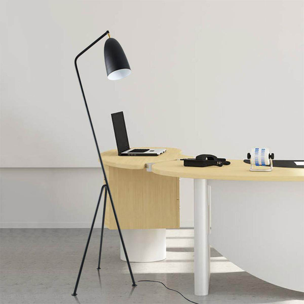 Black Modern Triangle Floor Lamp Light Metal Office Studio Home By Freebang.