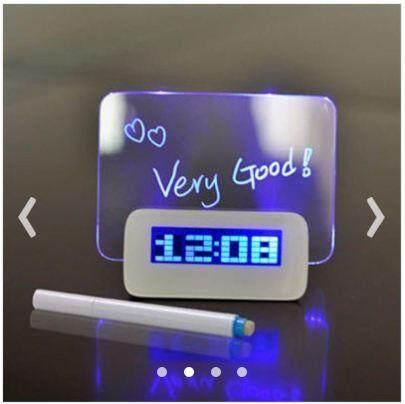 Message Board Digital Clock Desktop Clock LED Alarm Clock