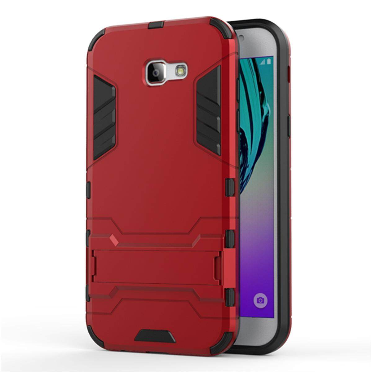 Hình ảnh for Samsung Galaxy A7(2017) Case 2in1 PC+TPU Hybrid Slim Back Case Ultra Thin Armor Cover, with Kickstand Holder, Glossy, Minimalist, Casual