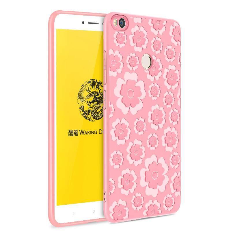 3D Berongga Bunga Lukisan Cangkang Lembut Silikon Emboss Telepon Case untuk Xiaomi Mi Maksimum 2 Max2