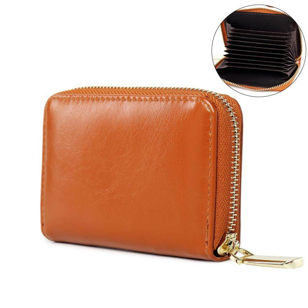 niceEshop New PU Leather Credit Card Holder Wallet for Women Coin Purse with Zipper