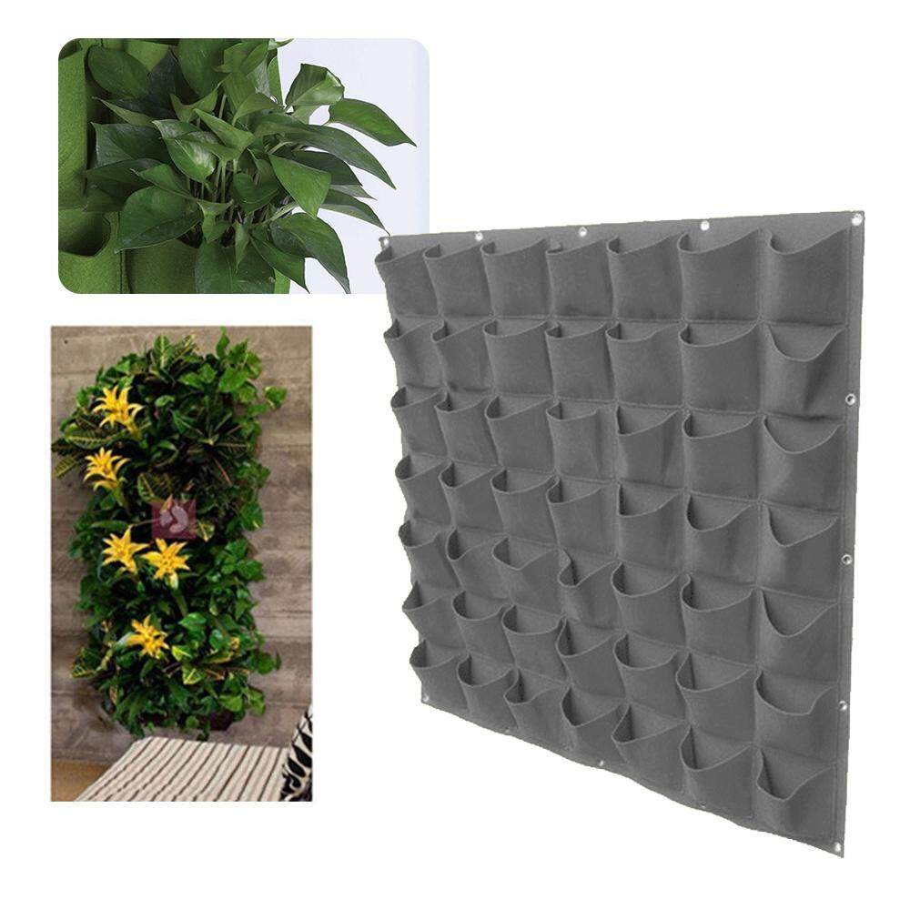 49 Pockets Planting Bags, Vertical Garden Wall Planter 25 Pockets Growing Flower Bags Hanging Plant