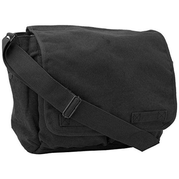 Black Original Heavyweight Classic Messenger Shoulder Bag with Army Universe  Pin - intl 04f85c026aa