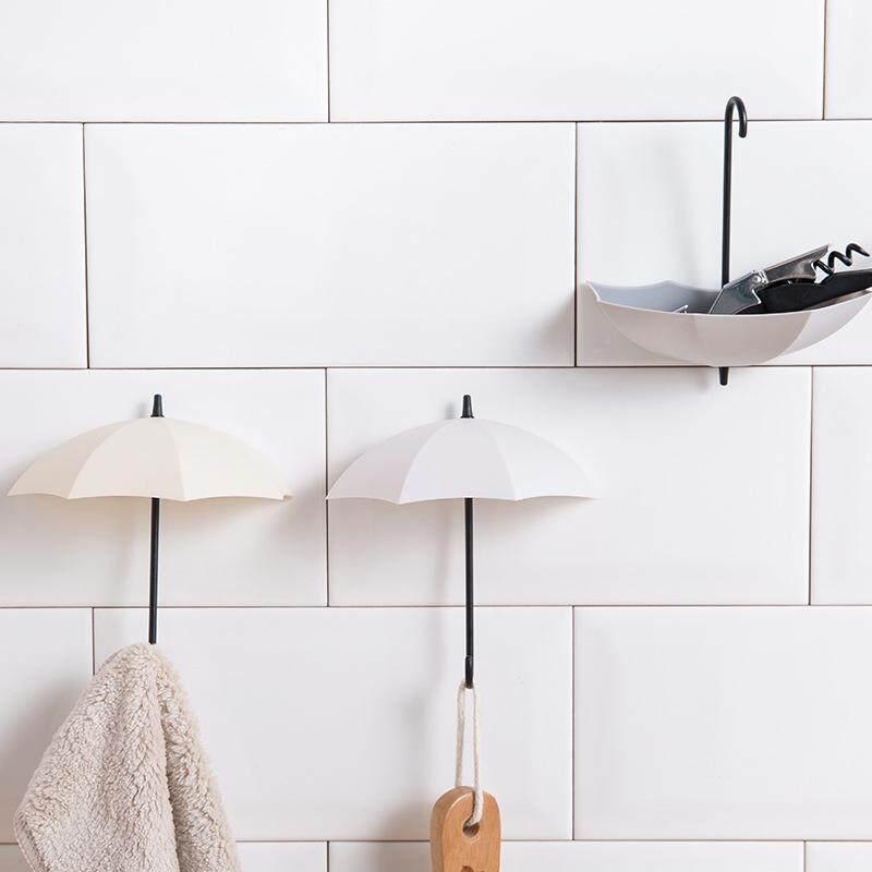 Habuy 3pcs/lot Umbrella Shaped Creative Key Hanger Rack Decorative Holder Wall Hook