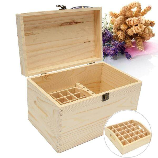 47 Slot Multifunctional Essential Oil Bottle Wood Storage Wooden Box Organizer
