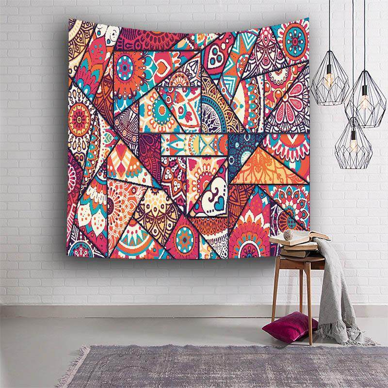 Wall Decor Hippie Tapestries Bohemian Mandala Tapestry Wall Hanging Throw Home Decor for Living Room Bedroom Dorm Room Beach Towel 153x130cm - intl