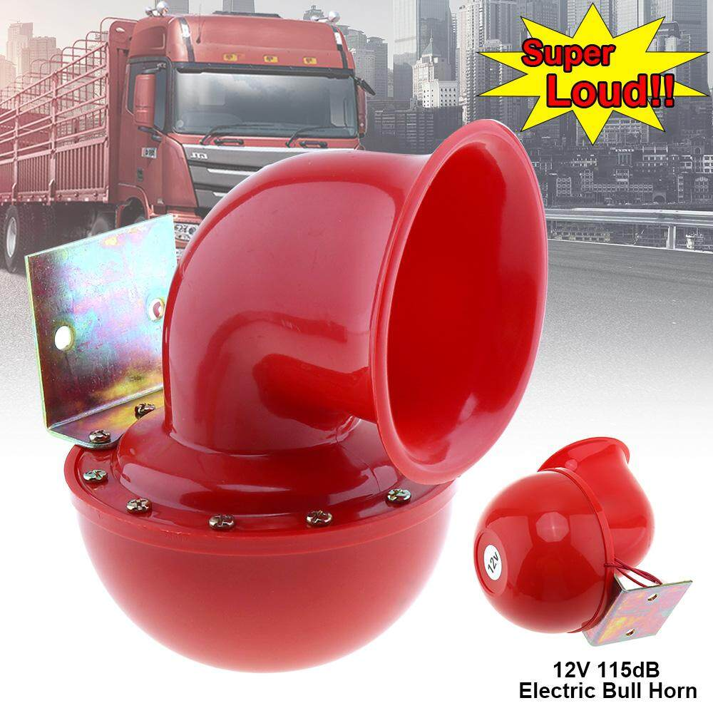 Red Electric Raging Bull Air Horn 12V 115DB for Car / Truck / Motorcycle