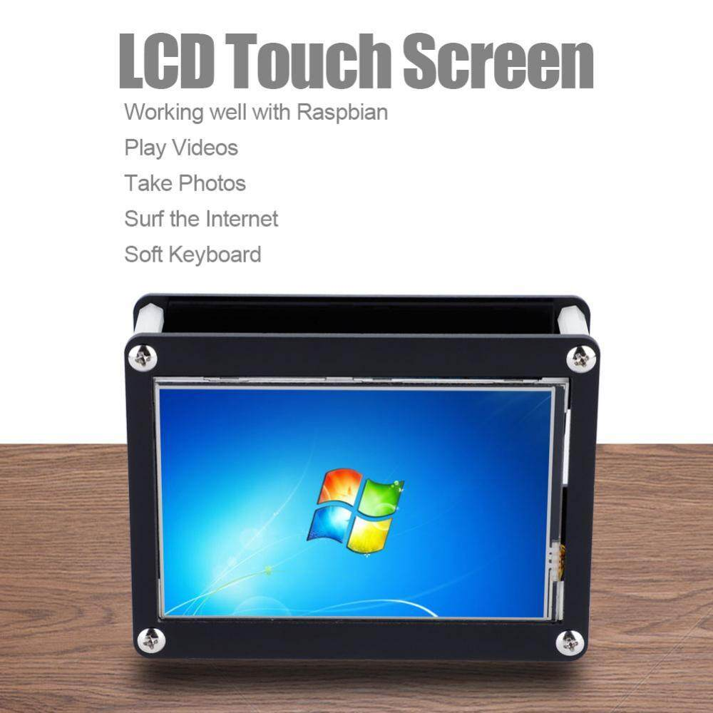 4.0Inch LCD 480x320 Touch Control LCD Display Screen+Black Acrylic Case for Raspberry Pi - intl