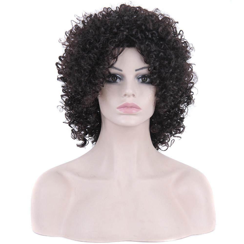 Radocie Fashion Wanita Sexy Berponi Penuh Wig Wig Pendek Volume Kecil Wig