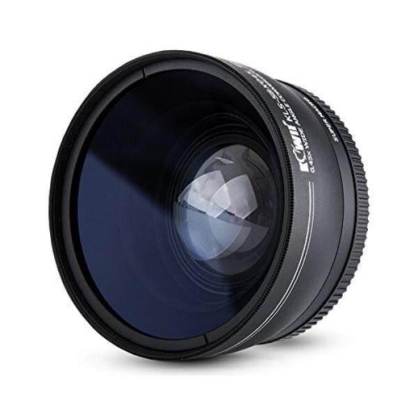 Kiwifotos KLS Serie Weitwinkel-Konverter 0,45 X Objektiv MIT Objektivdeckel, Tasche Und Reinigstuch F? R Canon 1300D, 1200D, 1100D, 760D, 750D, 700D, 80D, 70D, 60D, 7D, 7D, 6D, 5DS, 5DS R, 5D Mark III, 1D. kameras-Intl