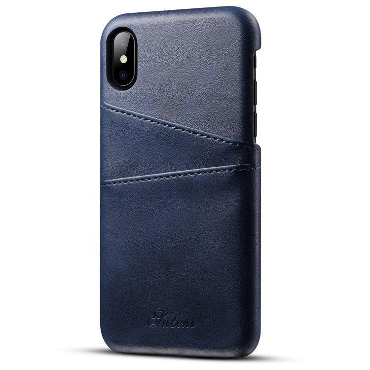 KDS Mewah Kulit Casing Ponsel Slot Kartu Saku Penutup Belakang untuk iPhone X-Intl