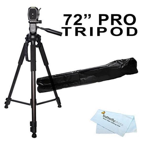 72 inch Tripod w/Case For The Nikon Df, D7200, D5300, D3300, D5200, D3200, D3X, D3S, D700, D300S, D7000 D90 D5100 D800 D800E D810 D600 D610, D7100, D750 DSLR and Blackmagic Pocket Cinema Camera + More