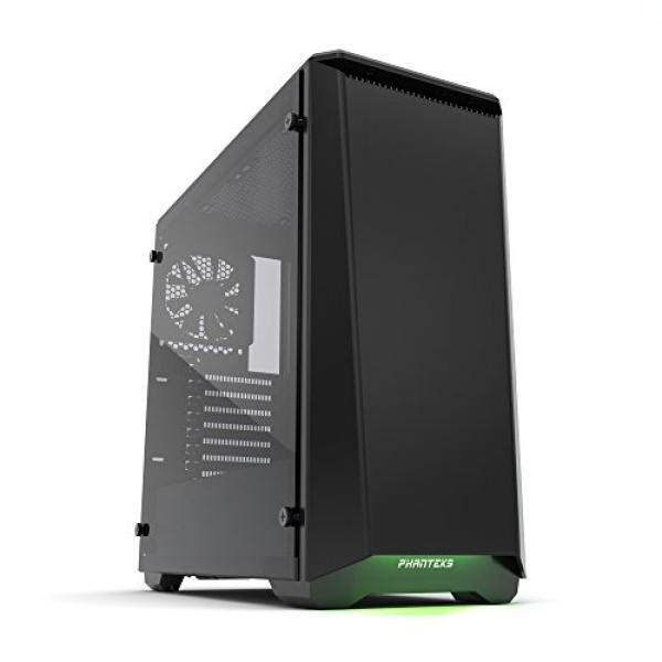 Phanteks PH-EC416PTG_BK Eclipse P400 Steel ATX Mid Tower Case Satin Black, Tempered Glass Edition Cases Malaysia