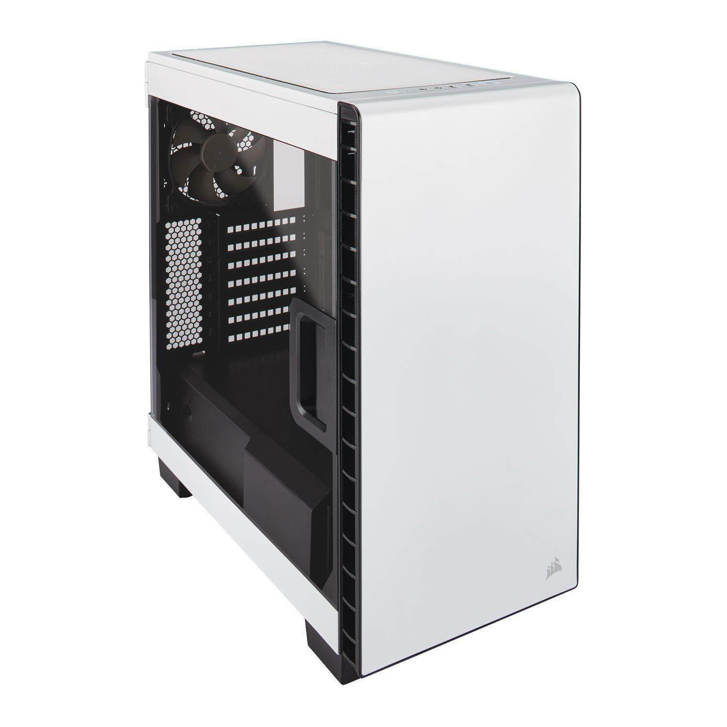 Corsair Carbide Clear 400C Window Compact Mid Tower Gaming PC Computer Case (Black/White) Malaysia