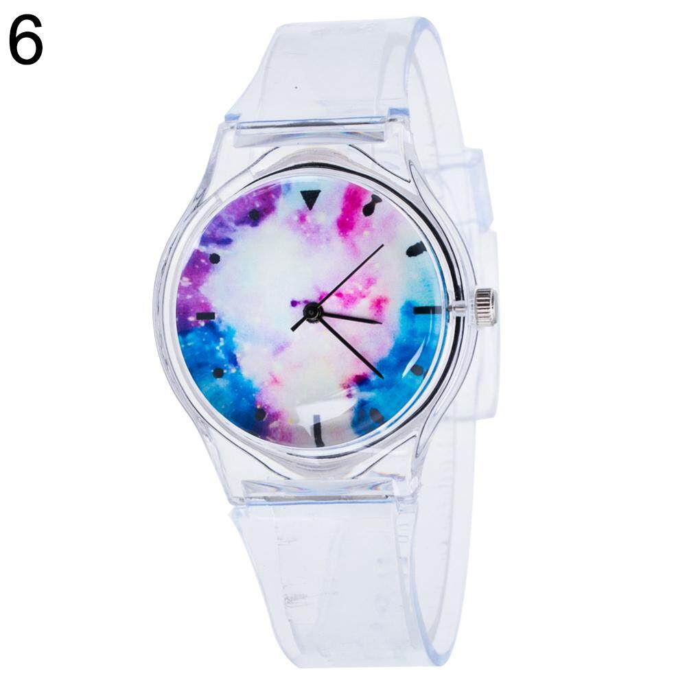 Sanwood® Fashion Transparent Kids Women Colorful Dial Jelly Quartz Analog Wrist Watch (6#) Malaysia