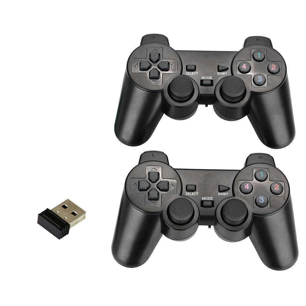 2Pcs 2.4Ghz Wireless Game Controller Gamepad with Vibration Joysticks For PC