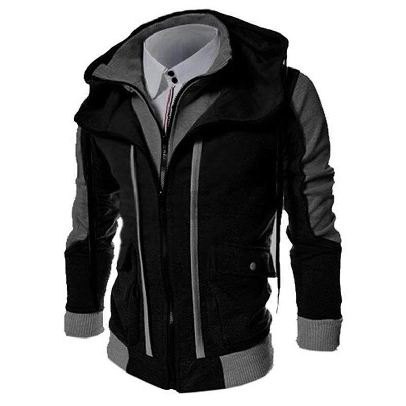 Big Sale Men Slim Fit Stand Collar Hoodie Casual Coat Hooded Jacket Outwear Tops By Four Season Big Sale.