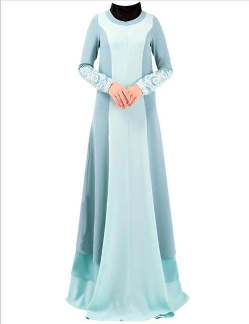 Malaysia Indonesian Traditional Long Stitching Cloth Dress national style Embroidery Dress With Long Sleeves and Without Head Scarf - intl
