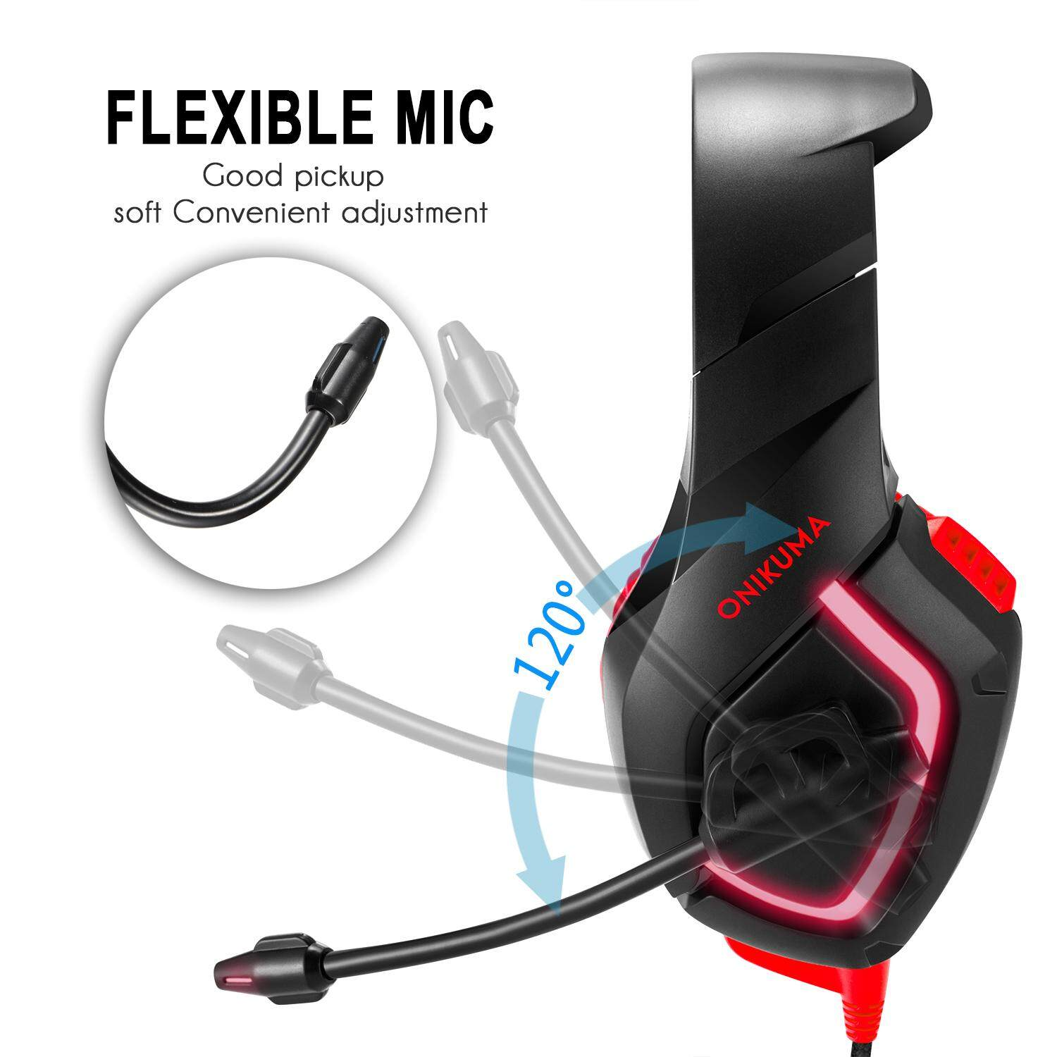 Detail Gambar ONIKUMA K1B Camouflage Headset Bass Gaming Headphones Game Earphones with Mic for PC Mobile Phone New Xbox One Tablet Terbaru